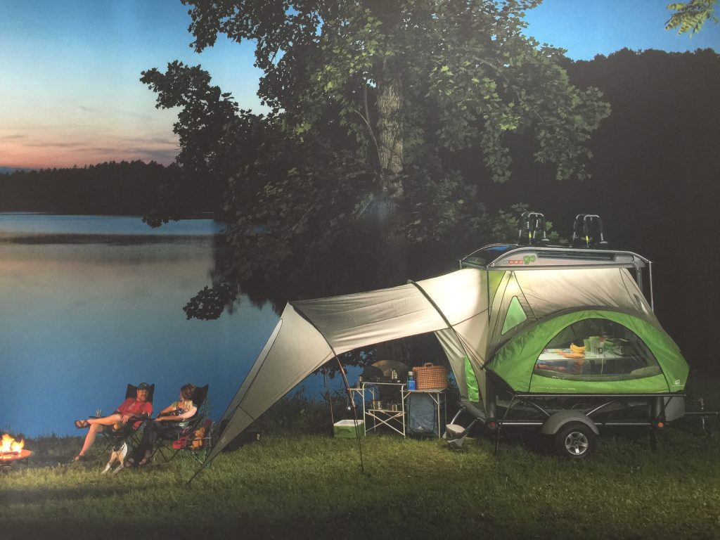 """The """"Go!"""" trailer by Sylvansport has so much flexibility for campers and weighs less than 900 #'s."""