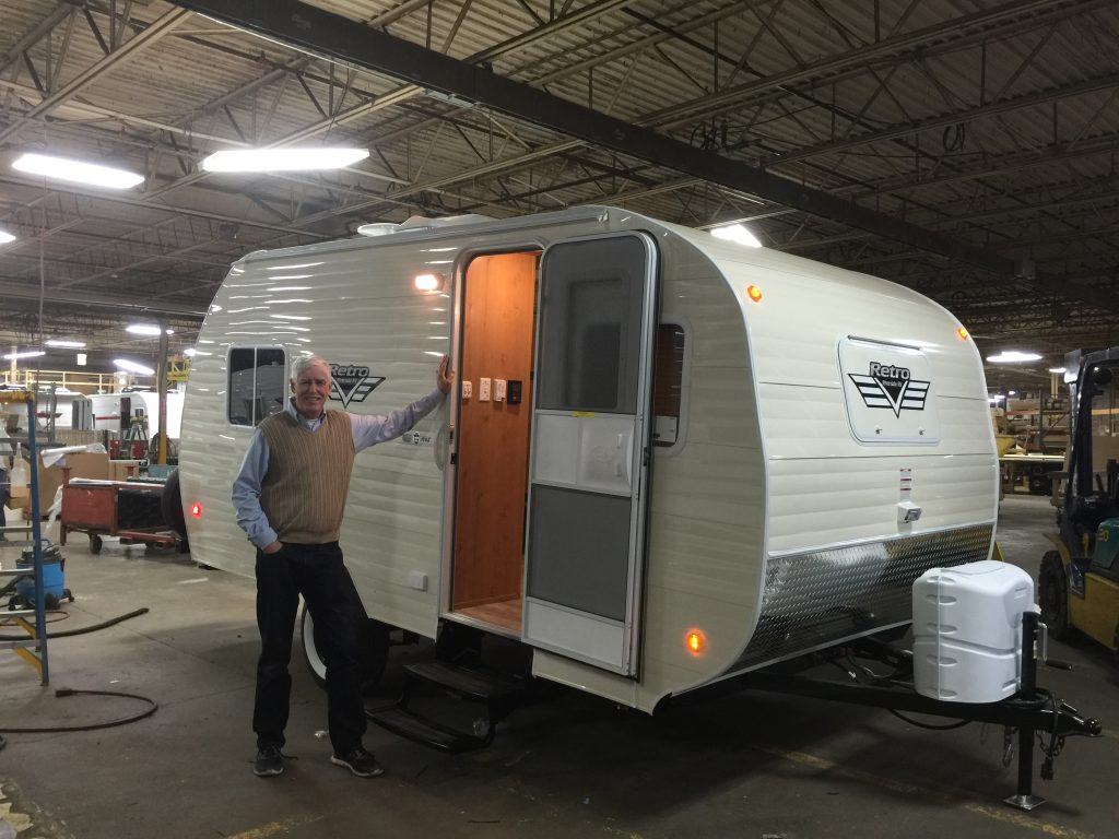 My husband Rick and I traveled to Indiana to pick up our new Riverside Retro and our differing travel attitudes surfaced before we got out of New Jersey!