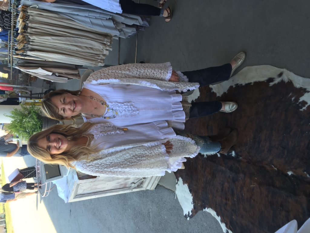 Ruthie and I in our matching Farmhouse Frocks!