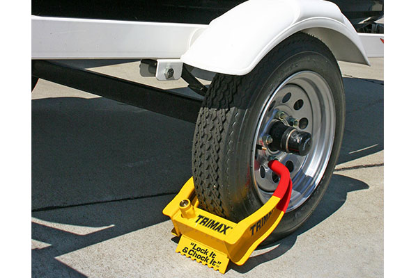 A inexpensive wheel lock on all four wheels can be time consuming to remove for thieves.