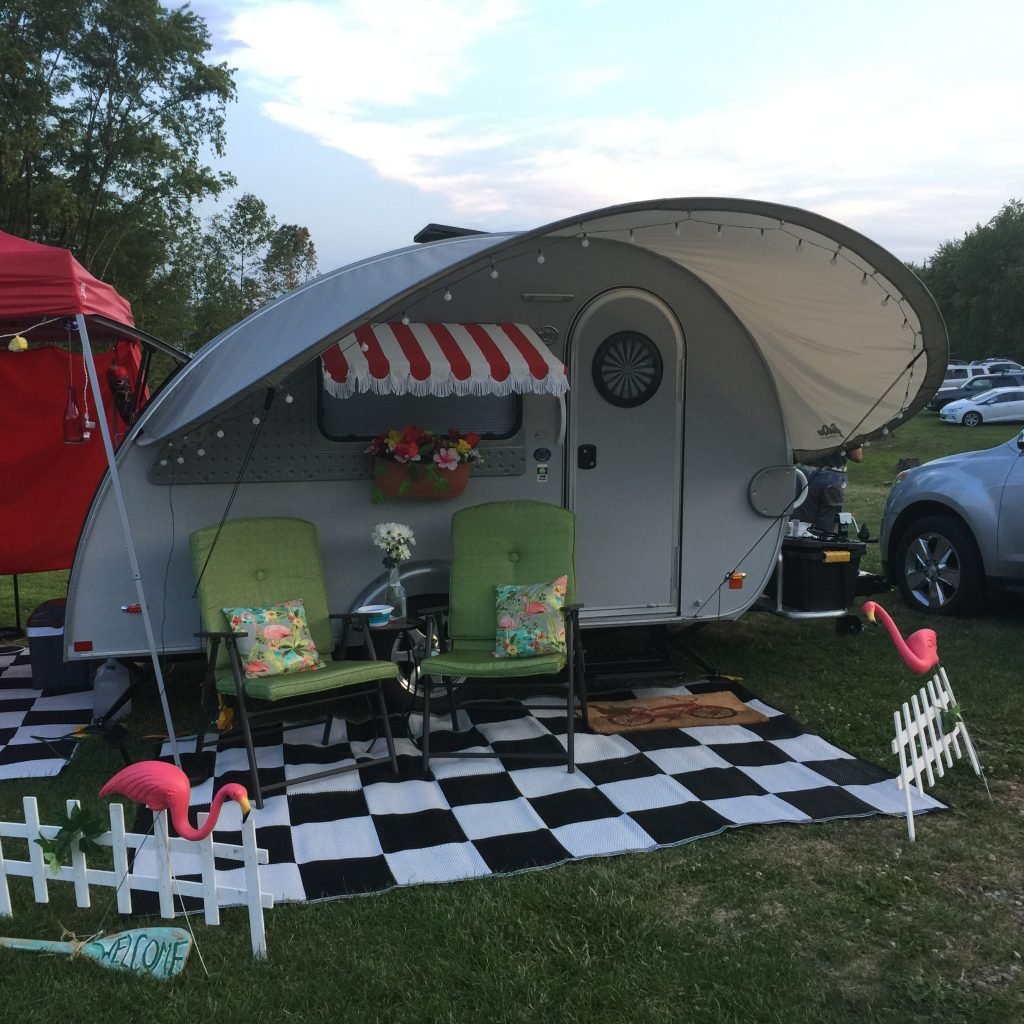 Girl Camper Amanda's sweet trailer at the recent Tearstock event in Ohio.