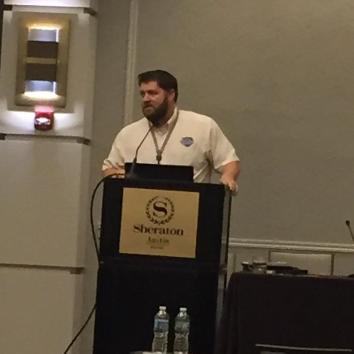 Todd Henson giving a presentation in Texas on the RV Inspection industry.