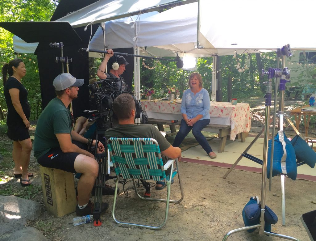"""On the """"set"""" of our fun GoRVing photo shoot about Girl Campers."""