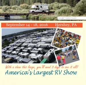 The Hershey RV Show begins September 14 and runs through the 18th. Stop by and see the new Serro Scotty at the Go Little Guy booth.