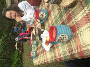 The Girl Campers had a great time breakfasting at the campground although finding your coffee cup was a little tricky!