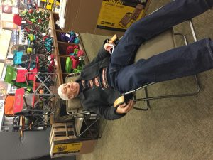 We were sold on the idea of a zero gravity chair until we saw the Cabela's club chair.