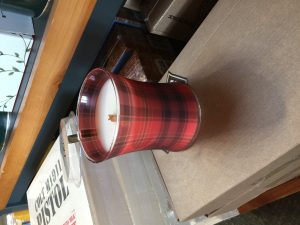 This is a little girl camper treat. The wooden wick candle for $19.95 has a pretty scent and the wooden wick creates a crackling sound when lit. My husband picked it up for me because I love anything that is red plaid.