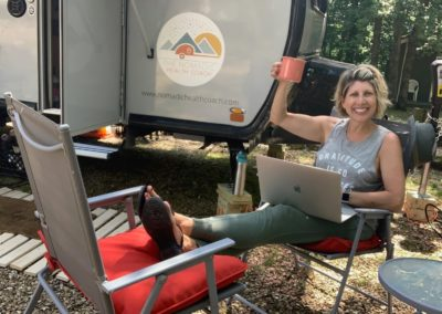 My name is Lorri Weisen —and I'm The Nomadic Health Coach